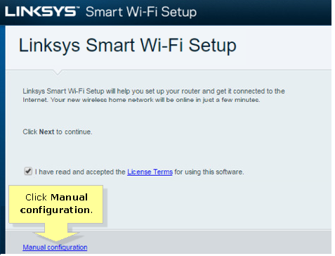 Setting up the Linksys Smart Wi-Fi Router using the Smart